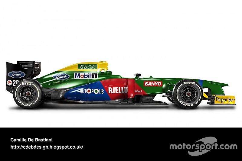 Photo gallery: retro liveries on modern F1 cars