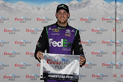 Hamlin takes Homestead pole, Harvick knocked out in second round