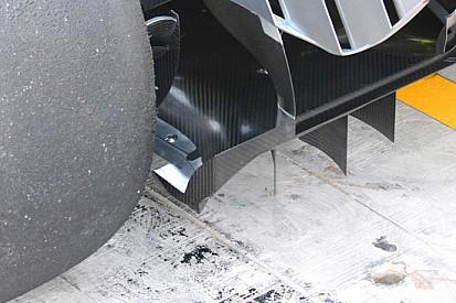 Mercedes: generatore di vortice al bordo dell'estrattore