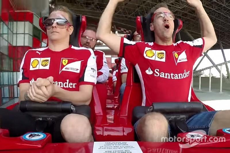 VÍDEO: Raikkonen e Vettel andam em montanha-russa da Ferrari