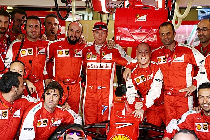 Räikkönen es un hombre regular de podios nocturnos