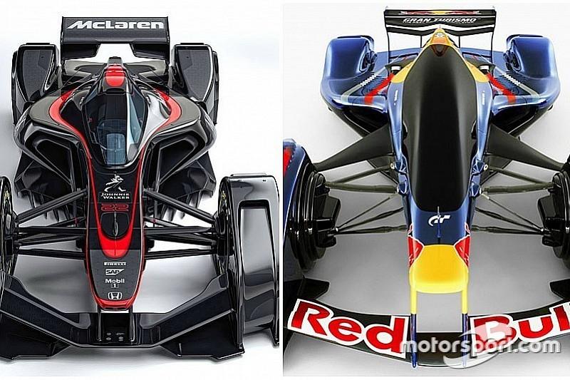 Red Bull se burla del auto futurista de McLaren: 5 años de retraso