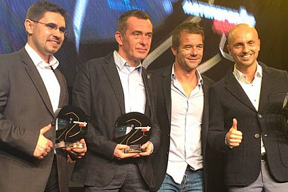 Kajetan Kajetanowicz premiato da Sébastien Loeb