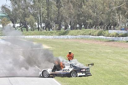 VIDEO: Escalofriante incendio en el cierre del Top Race en Argentina