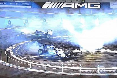 Vídeo: Hamilton e Rosberg fazem zerinho com F1 da Mercedes