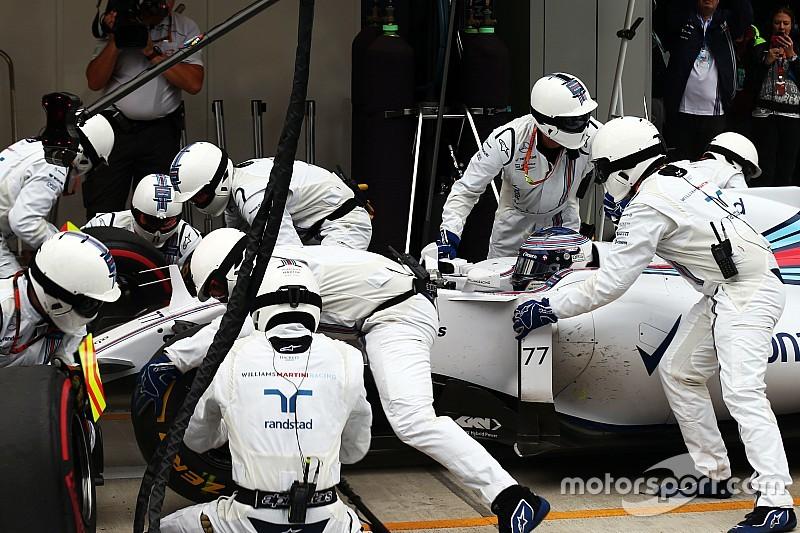 Bottas culpa porcas por problemas da Williams nos boxes
