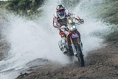 Dakar, Moto, Tappa 3: Barreda nella tripletta Honda