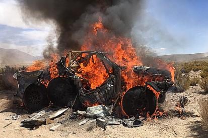 """انسحاب تين برينكي بعد حريق في سيارته: """"انتشرت النار بسُرعة"""""""