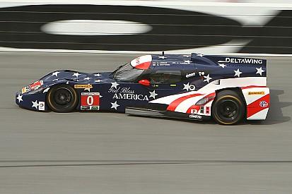 Katherine Legge y DeltaWing lideran práctica en Daytona