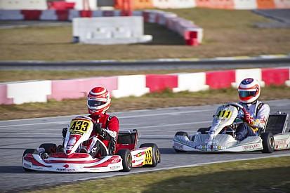 Nelsinho Piquet e Rubens Barrichello travam duelo no kart