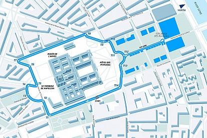 Dit is het Formule E-stratencircuit in Parijs