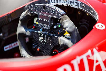Le cockpit d'une voiture d'IndyCar