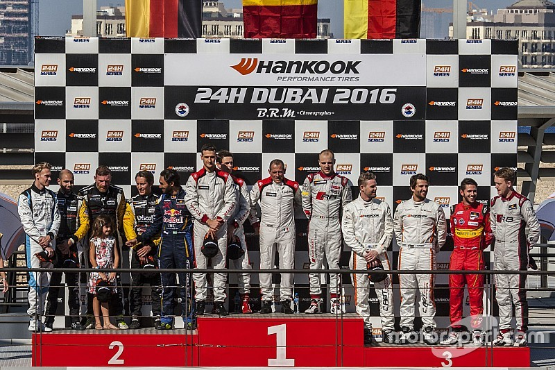 Belgian Audi Club Team WRT wins 24H Dubai