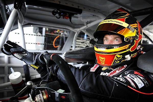 Le pilote belge Anthony Kumpen au départ à Daytona