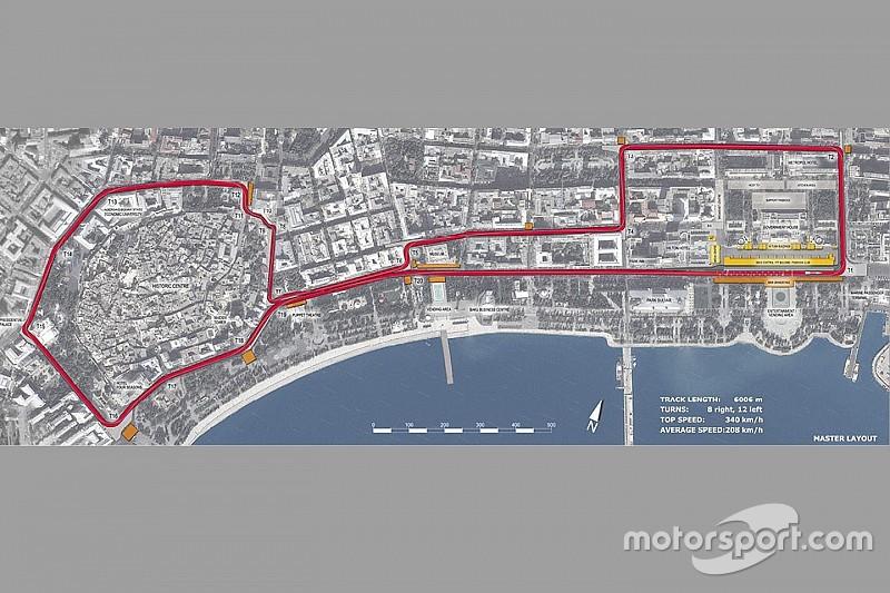 Circuito do Azerbaijão promete ser o mais estreito da F1