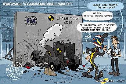 L'humeur de Cirebox - Pastor approuve le crash-test Renault!
