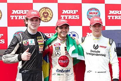 MRF Challenge: Fittipaldi gana y Schumacher llega al podio