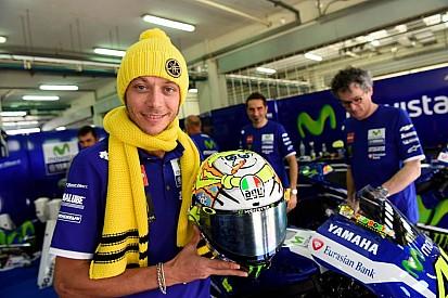 """Ecco il casco """"invernale"""" di Valentino Rossi"""
