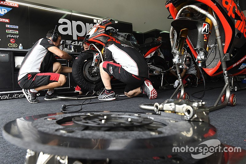 Prime indicazioni positive per l'Aprilia RS-GP 16 ad Aragon