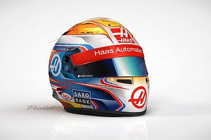 Grosjean volta às origens e homenageia Bianchi em capacete
