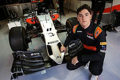 Celis Jr au volant chez Force India à Barcelone