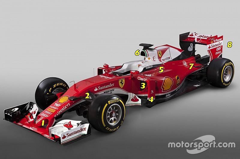 Formel-1-Ferrari: Das ist neu am SF16-H