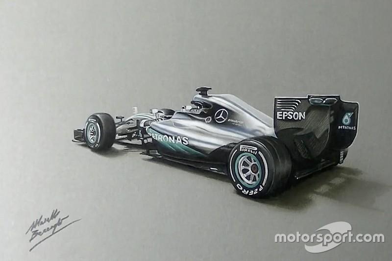 Mercedes revela nuevas imágenes del W07