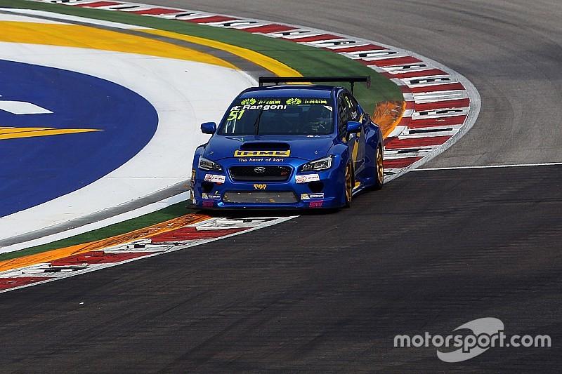 Luca Rangoni conclude i test con la Subaru STI TCR