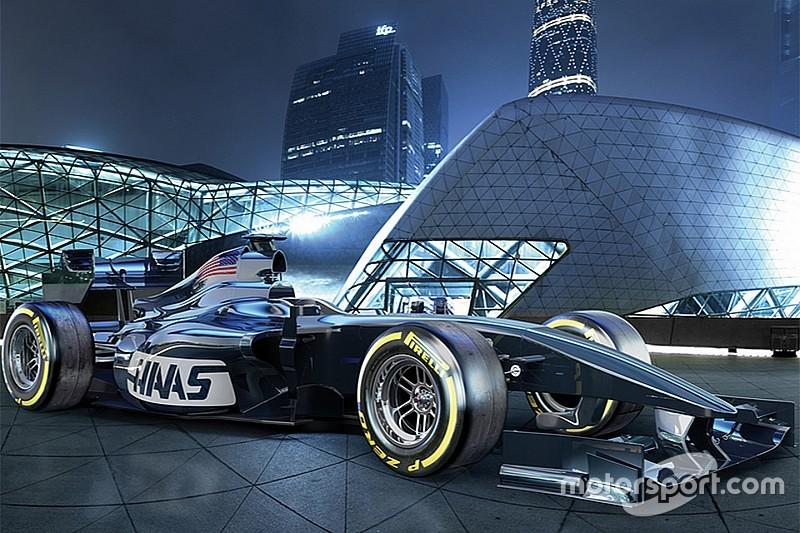 Haas F1-bolide rijdt eerste meters