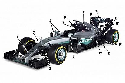 Technique - Les 15 changements clés sur la Mercedes W07