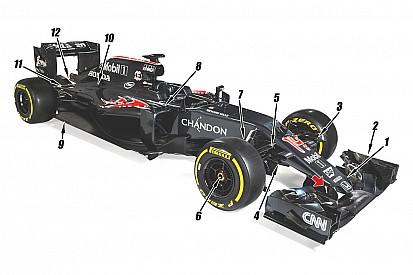 Análisis técnico: Los 12 cambios clave en el McLaren MP4-31