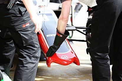 Haas manda un alerón delantero más fuerte a Barcelona
