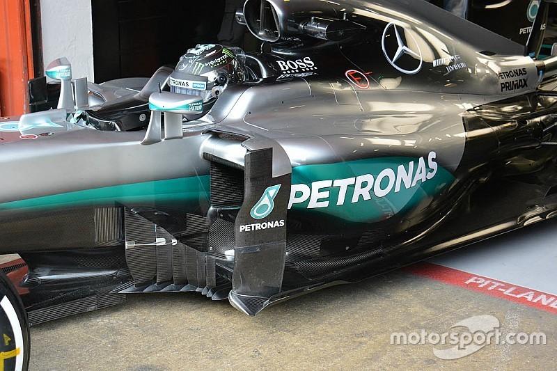 Mercedes dévoile de nouveaux déflecteurs latéraux