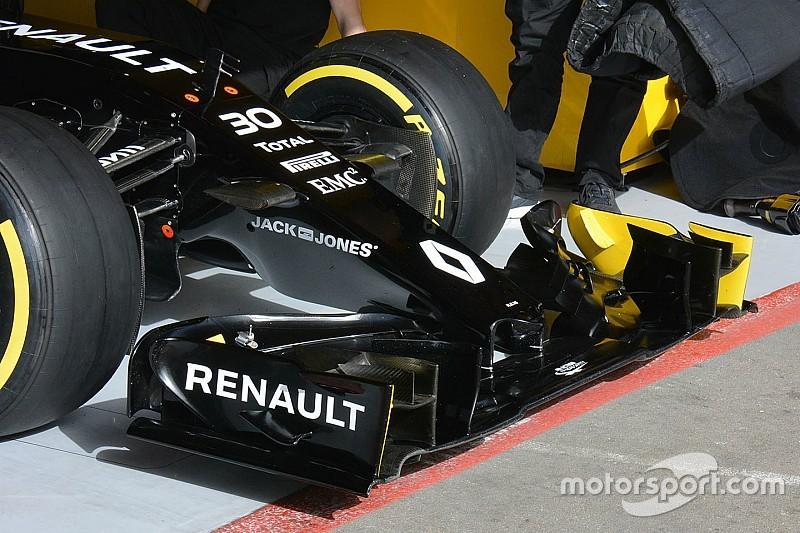 Renault evalúa un nuevo alerón delantero