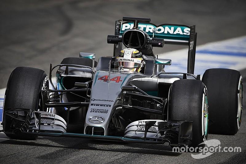 Hamilton test woensdag met nieuwe neus