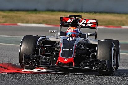 """Grosjean - """"La voiture évolue dans la bonne direction"""""""