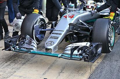 Fotostrecke: Die neue Mercedes-Frontpartie in der Formel 1
