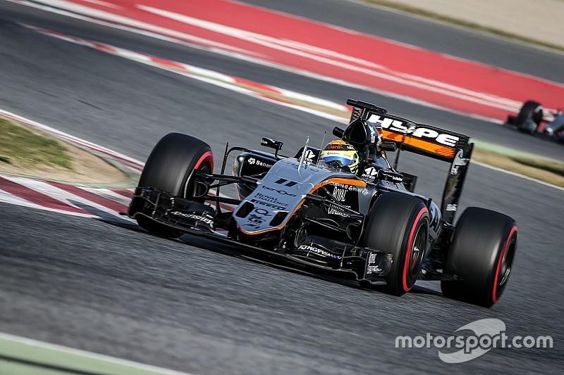 Sergio Perez ontkent dat Force India 'showrijdt'