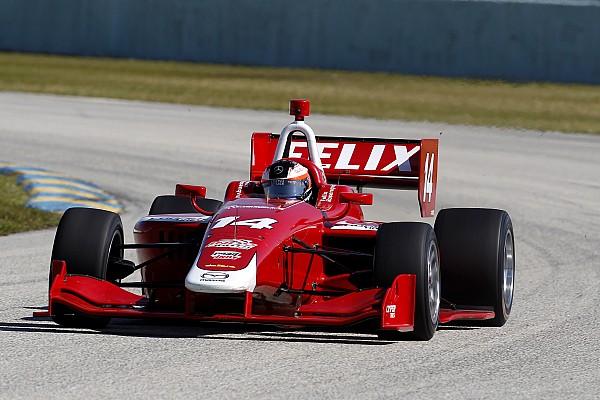 Felix Rosenqvist und Dean Stoneman fahren Indy Lights