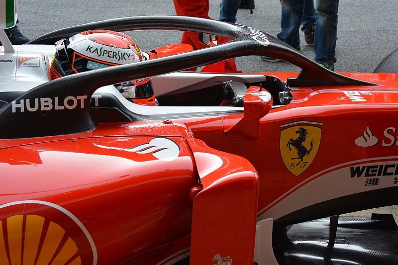 Räikkönen teste le halo à Barcelone!