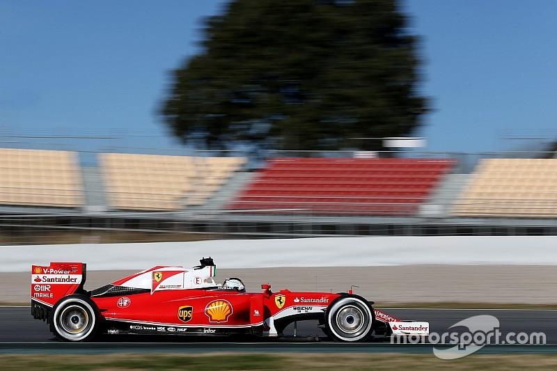 Ferrari snelste in Barcelona-test, Sainz en Toro Rosso verbazen