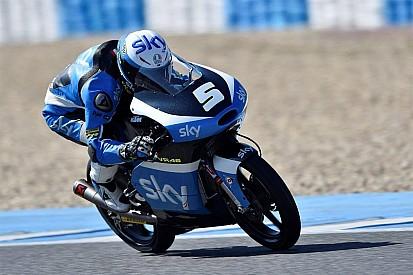Rossi protege Fenati fastest in Moto3 Jerez test