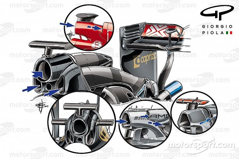Technik-Analyse: Formel-1-Teams suchen Vorteile durch das Design des Überrollbügels