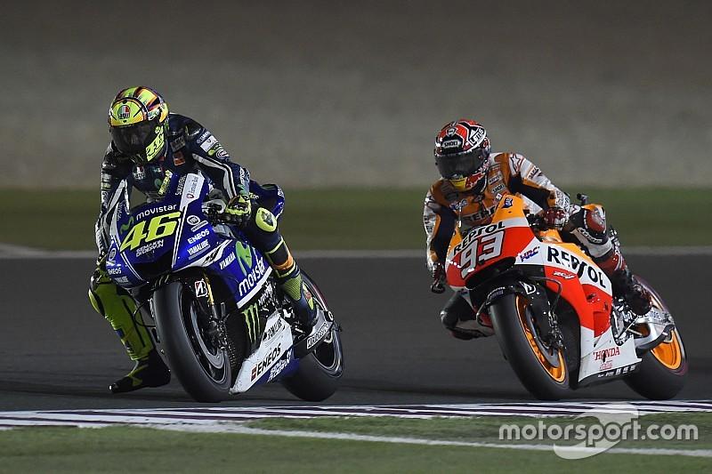 """Rossi não espera """"nada de especial"""" com Marquez na pista"""