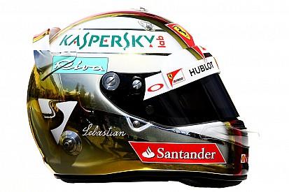 Vettel torna estroso: il suo casco 2016 è bianco e oro!