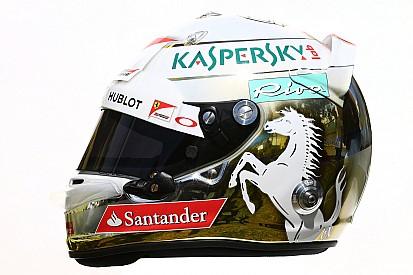 Casco blanco y oro para Vettel