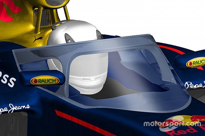 Red Bull präsentiert Designstudie für Cockpitschutz
