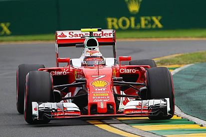 Räikkönen peine à mettre ses pneus en température
