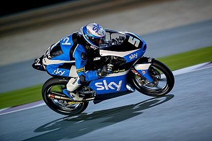 Romano Fenati in pole position a tempo scaduto in Qatar
