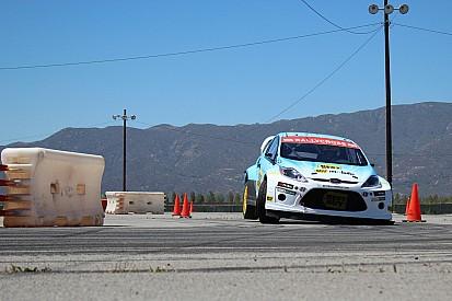 Zweimaliger WRC-Meister Marcus Grönholm vor Start in der Rallycross-WM